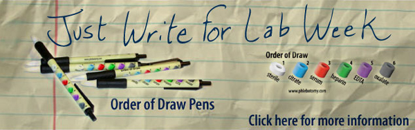 Just Write for Lab Week, Order of Draw Retractable Pens